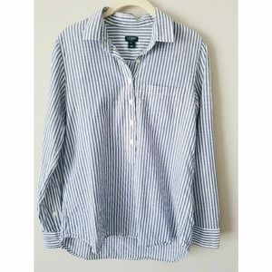 J. Crew Striped Button Up
